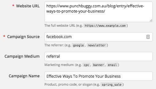 Campaign URL Builder Screenshot
