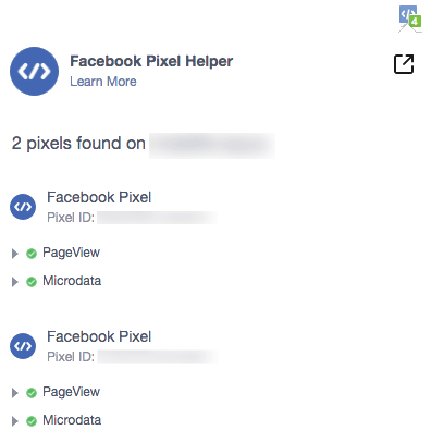 Two Facebook Pixels Example