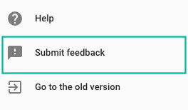 Search Console Submit Feedback Button