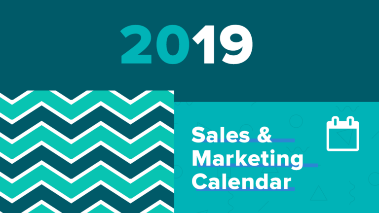 Your Free 2019 eCommerce Sales and Marketing Calendar